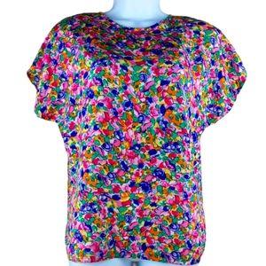 VTG artsy colorful top size S